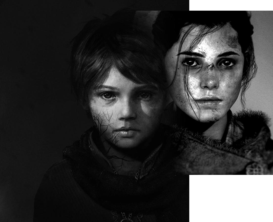 Amicia e Hugo De Rune