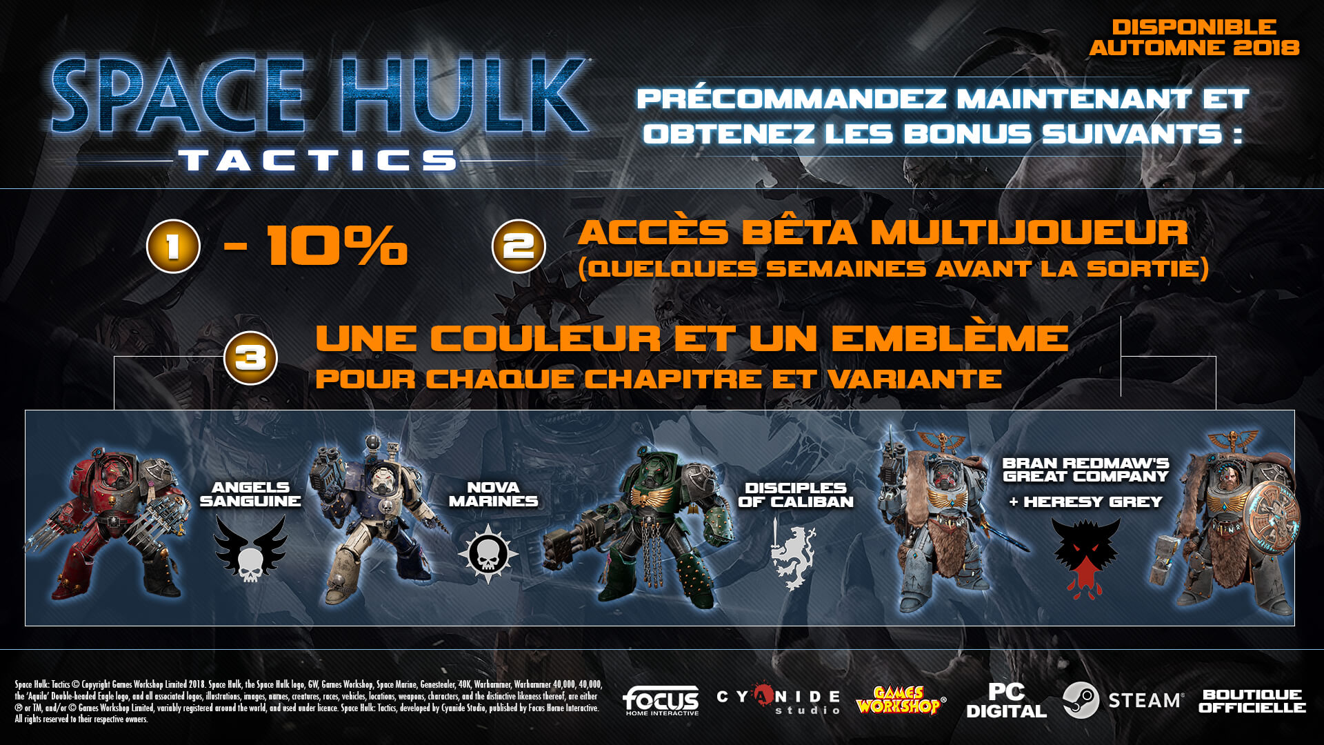 Space Hulk: Tactics Factions